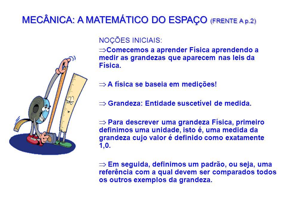 MECÂNICA: A MATEMÁTICO DO ESPAÇO (FRENTE A p.2)