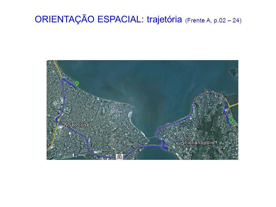 ORIENTAÇÃO ESPACIAL: trajetória (Frente A, p.02 – 24)
