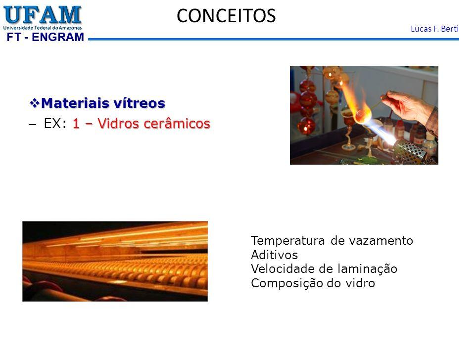 CONCEITOS Materiais vítreos EX: 1 – Vidros cerâmicos