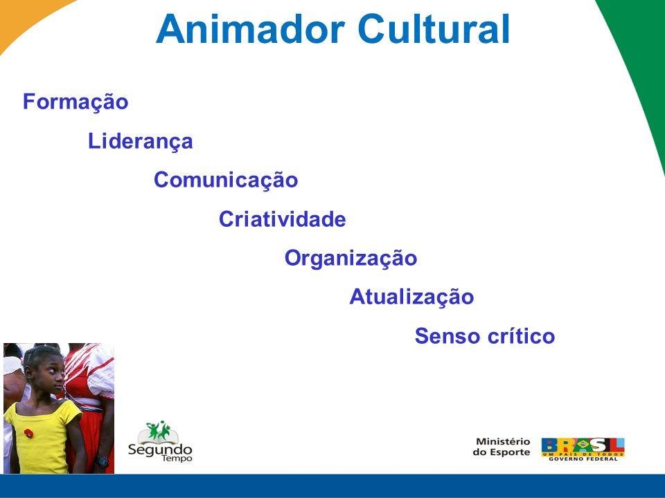 Animador Cultural Formação Liderança Comunicação Criatividade