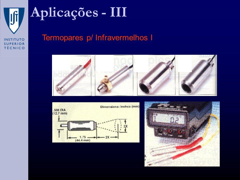 Aplicações - III Termopares p/ Infravermelhos I
