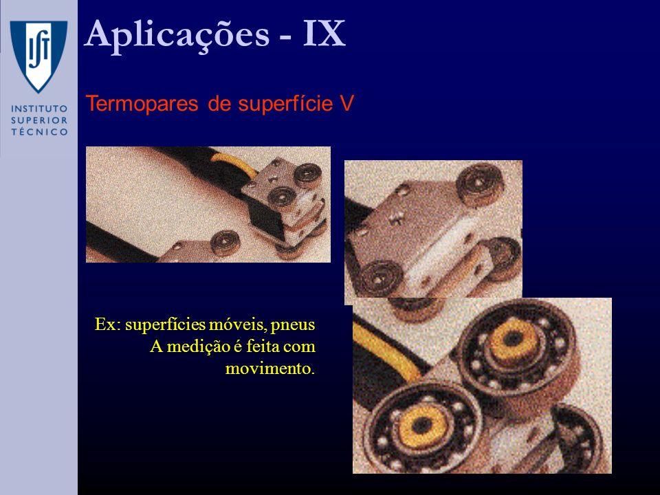 Aplicações - IX Termopares de superfície V
