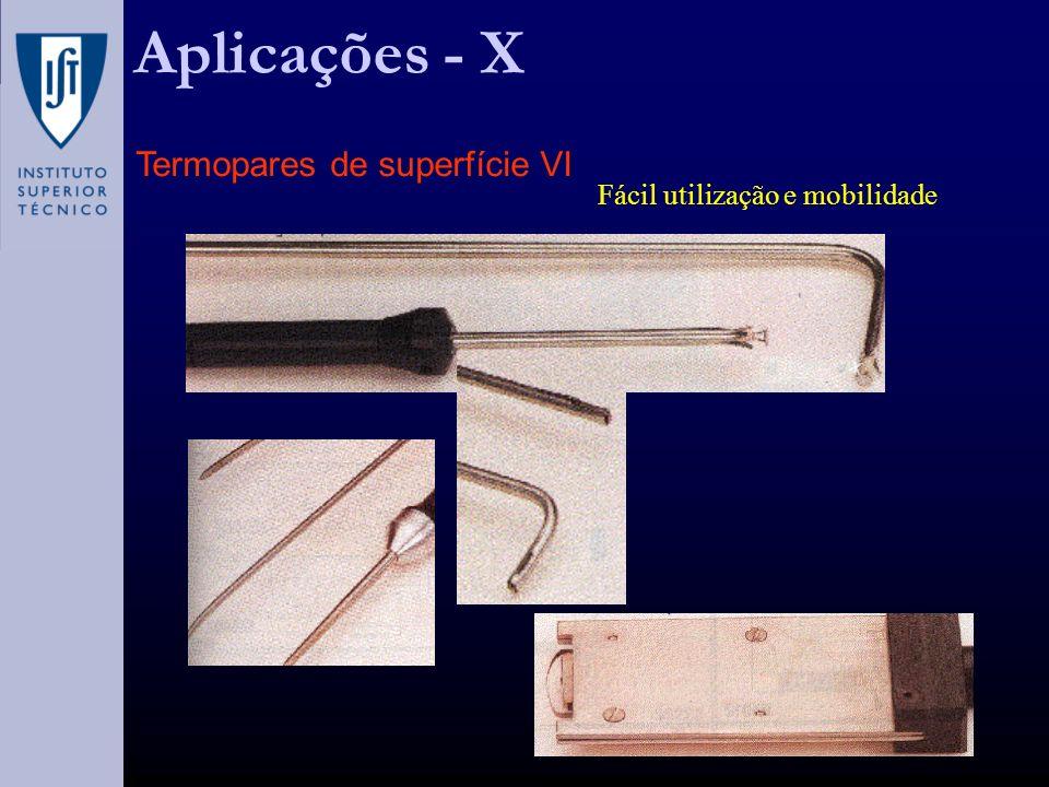 Aplicações - X Termopares de superfície VI