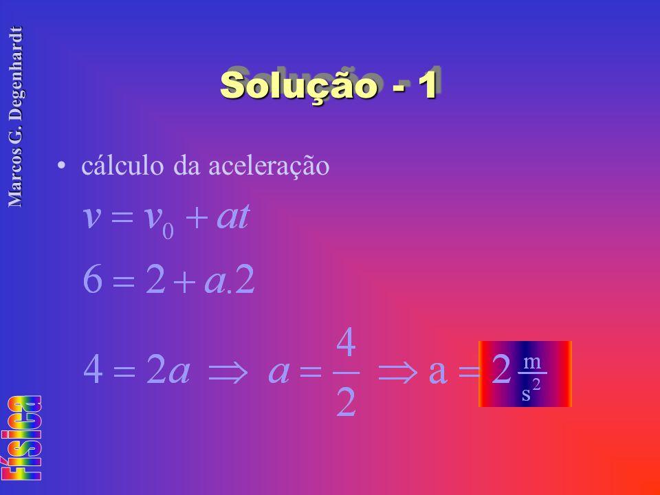 Solução - 1 cálculo da aceleração
