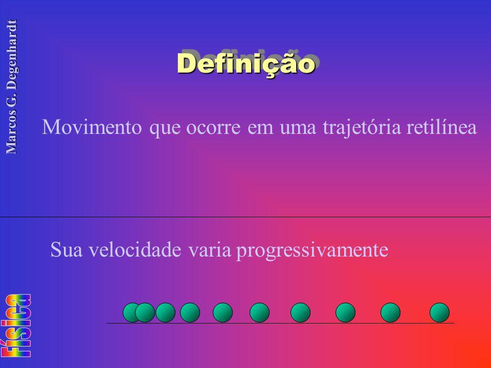 Definição Movimento que ocorre em uma trajetória retilínea