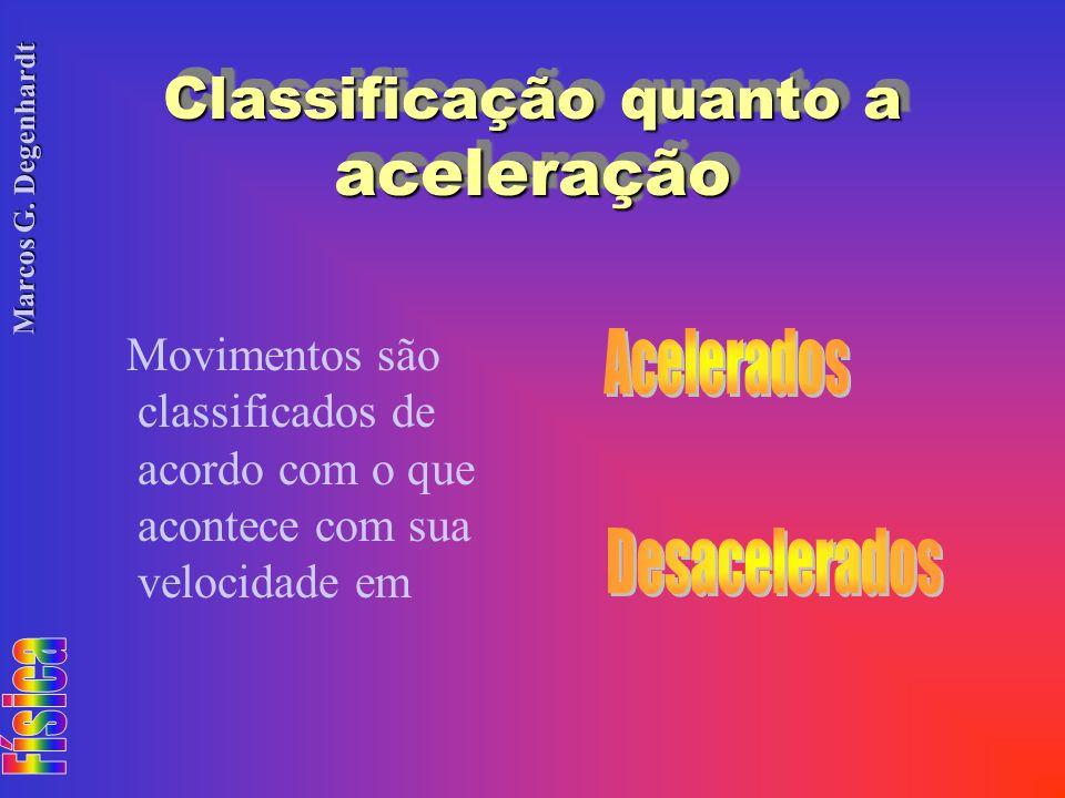 Classificação quanto a aceleração