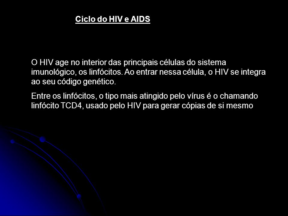 Ciclo do HIV e AIDS