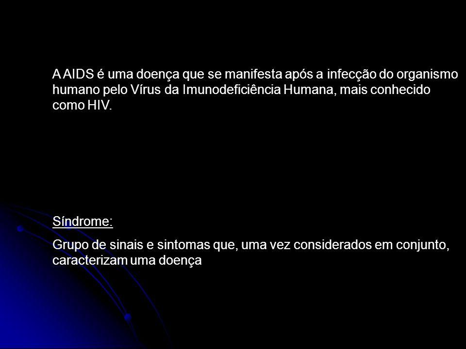 A AIDS é uma doença que se manifesta após a infecção do organismo humano pelo Vírus da Imunodeficiência Humana, mais conhecido como HIV.