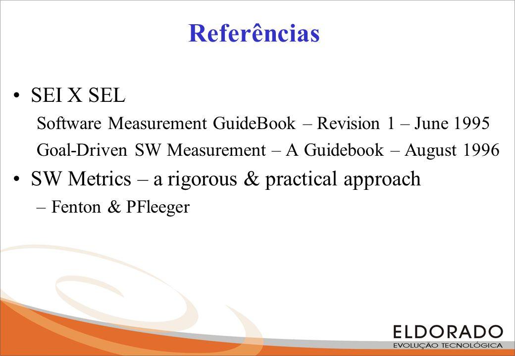 Referências SEI X SEL SW Metrics – a rigorous & practical approach