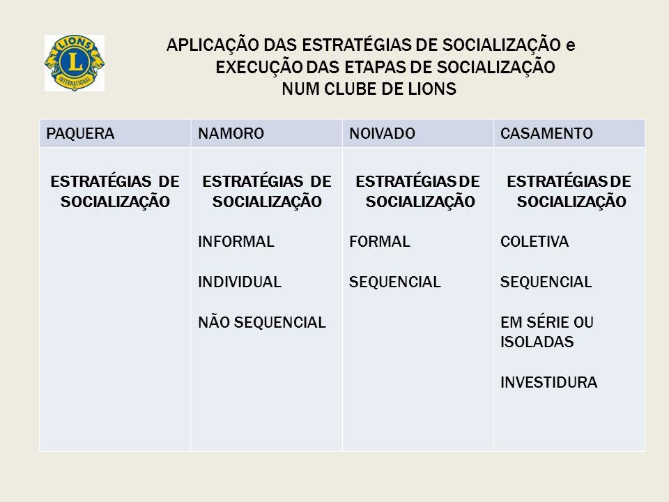 ESTRATÉGIAS DE SOCIALIZAÇÃO