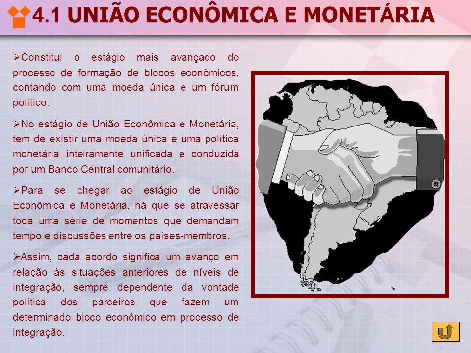 4.1 UNIÃO ECONÔMICA E MONETÁRIA