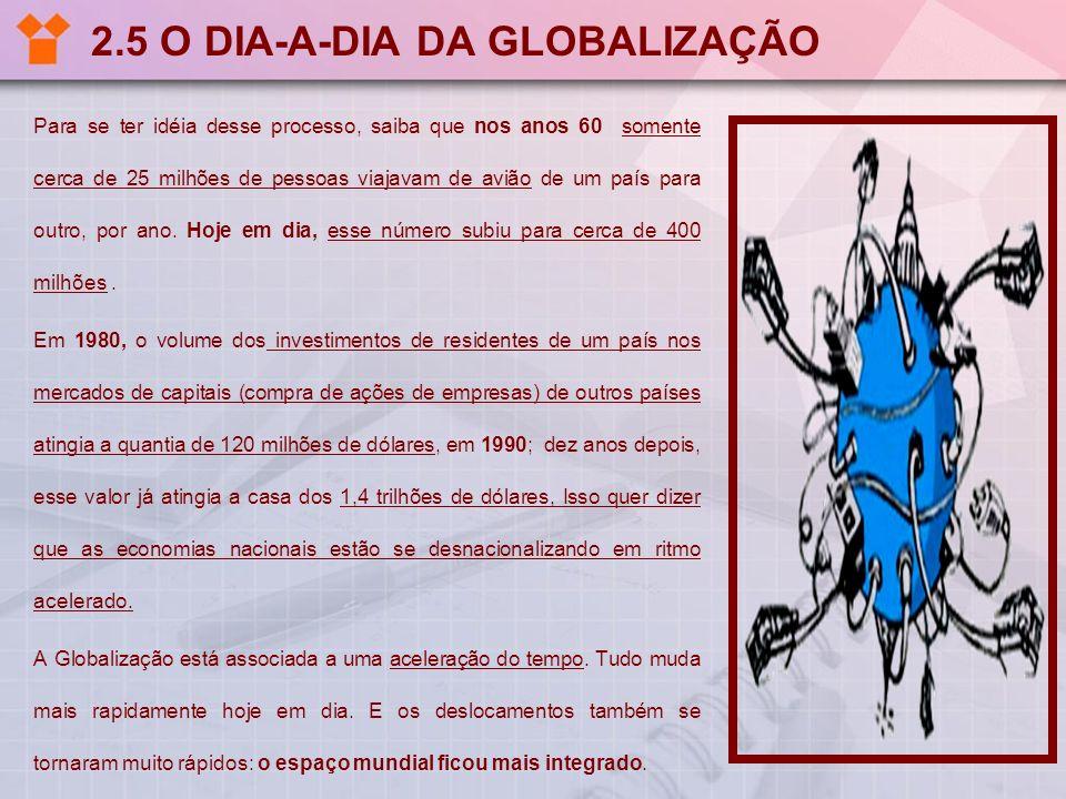 2.5 O DIA-A-DIA DA GLOBALIZAÇÃO
