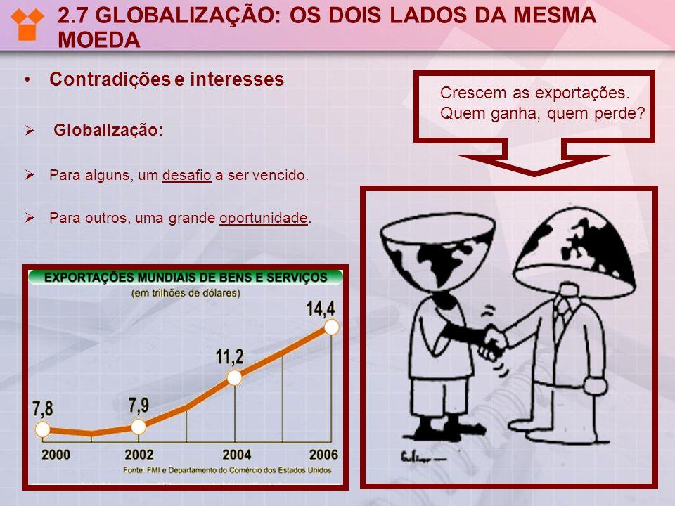 2.7 GLOBALIZAÇÃO: OS DOIS LADOS DA MESMA MOEDA