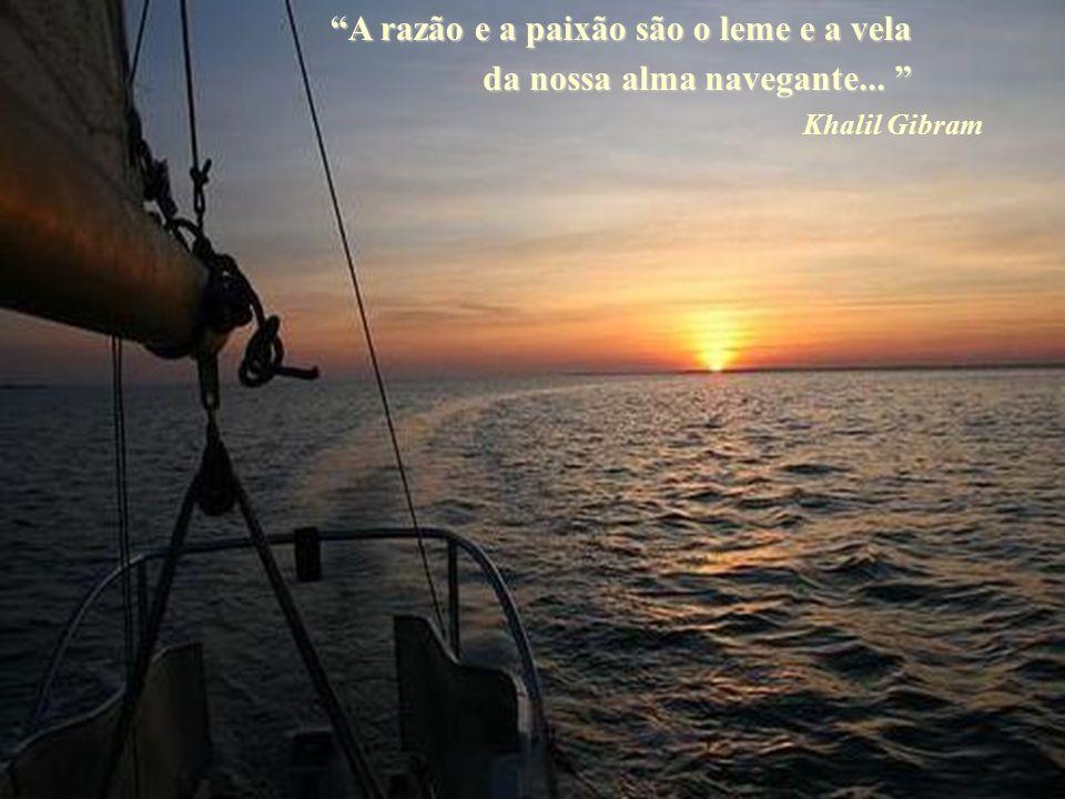 A razão e a paixão são o leme e a vela da nossa alma navegante...
