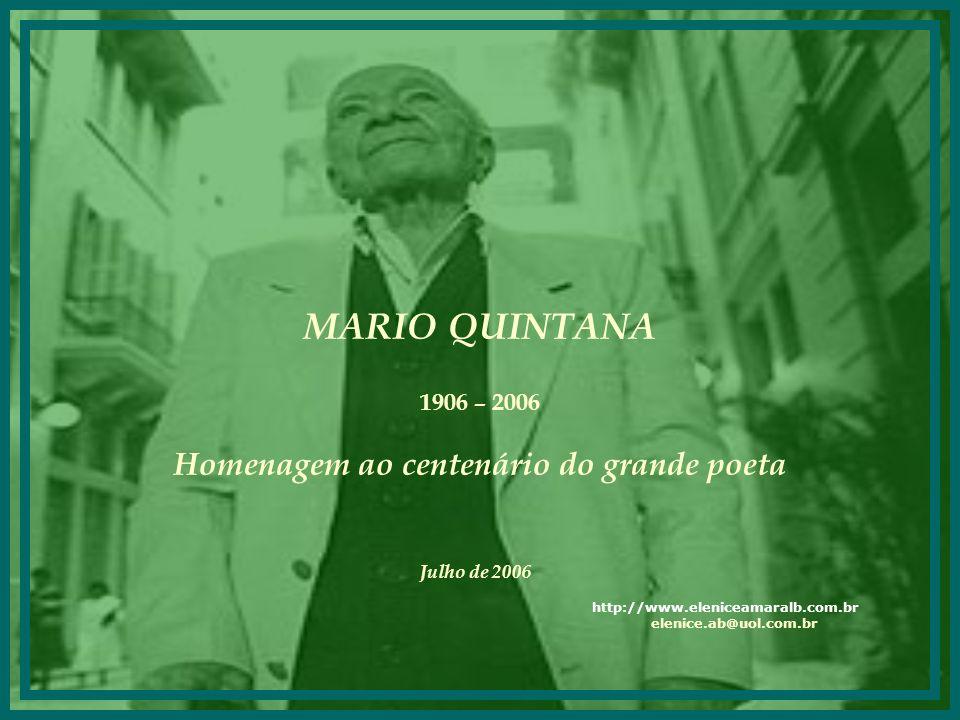 Homenagem ao centenário do grande poeta