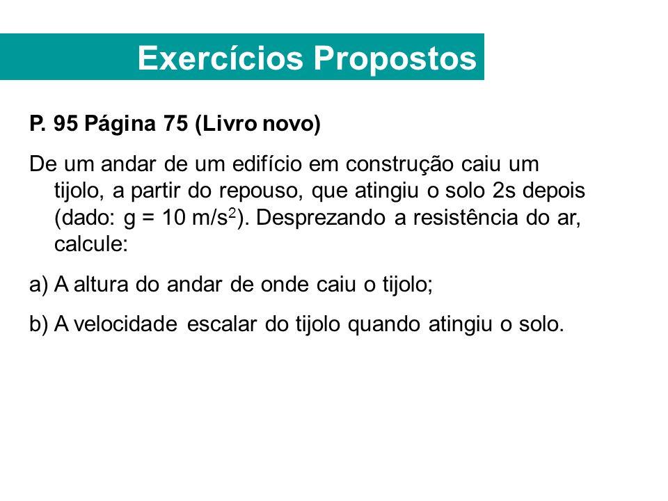 Exercícios Propostos P. 95 Página 75 (Livro novo)