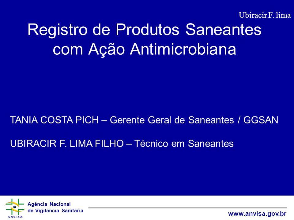 Registro de Produtos Saneantes com Ação Antimicrobiana