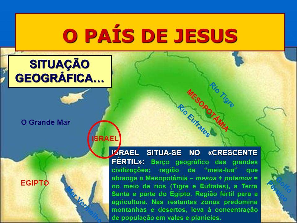 O PAÍS DE JESUS SITUAÇÃO GEOGRÁFICA… Rio Tigre MESOPOTÂMIA
