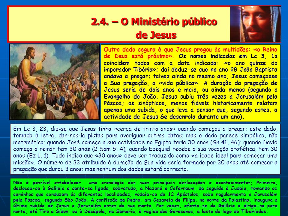 2.4. – O Ministério público de Jesus
