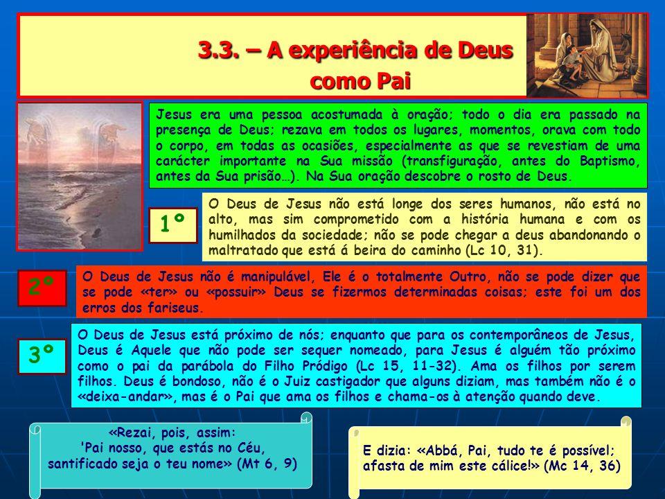 3.3. – A experiência de Deus como Pai