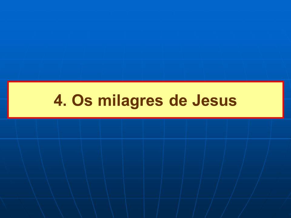 4. Os milagres de Jesus