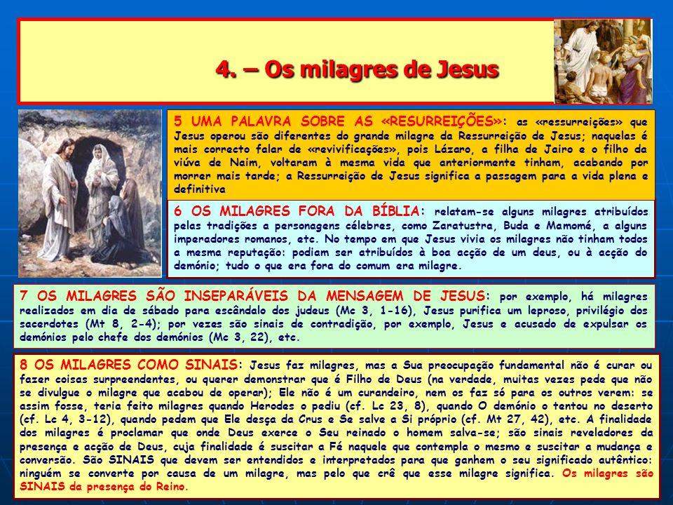 4. – Os milagres de Jesus