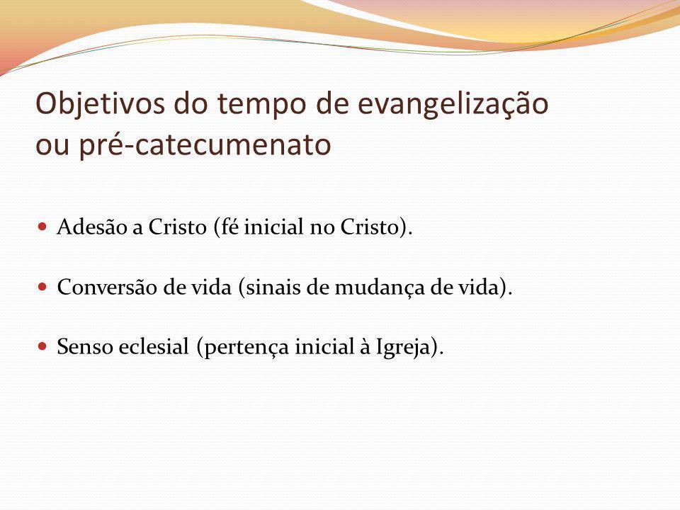 Objetivos do tempo de evangelização ou pré-catecumenato