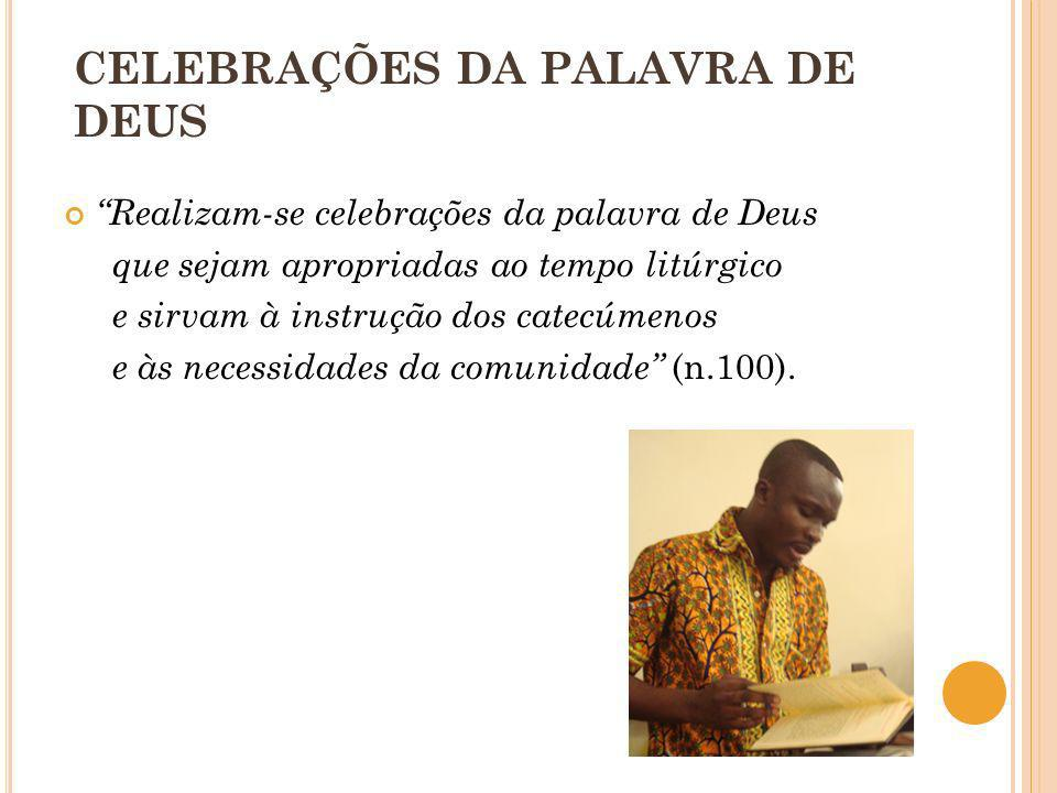 CELEBRAÇÕES DA PALAVRA DE DEUS