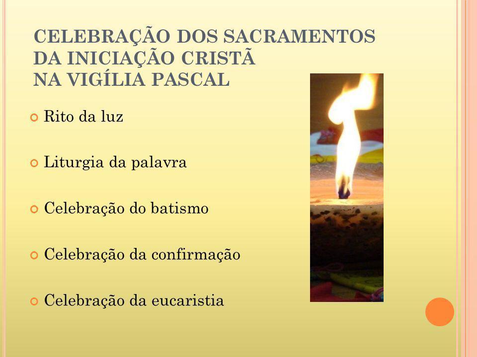 CELEBRAÇÃO DOS SACRAMENTOS DA INICIAÇÃO CRISTÃ NA VIGÍLIA PASCAL