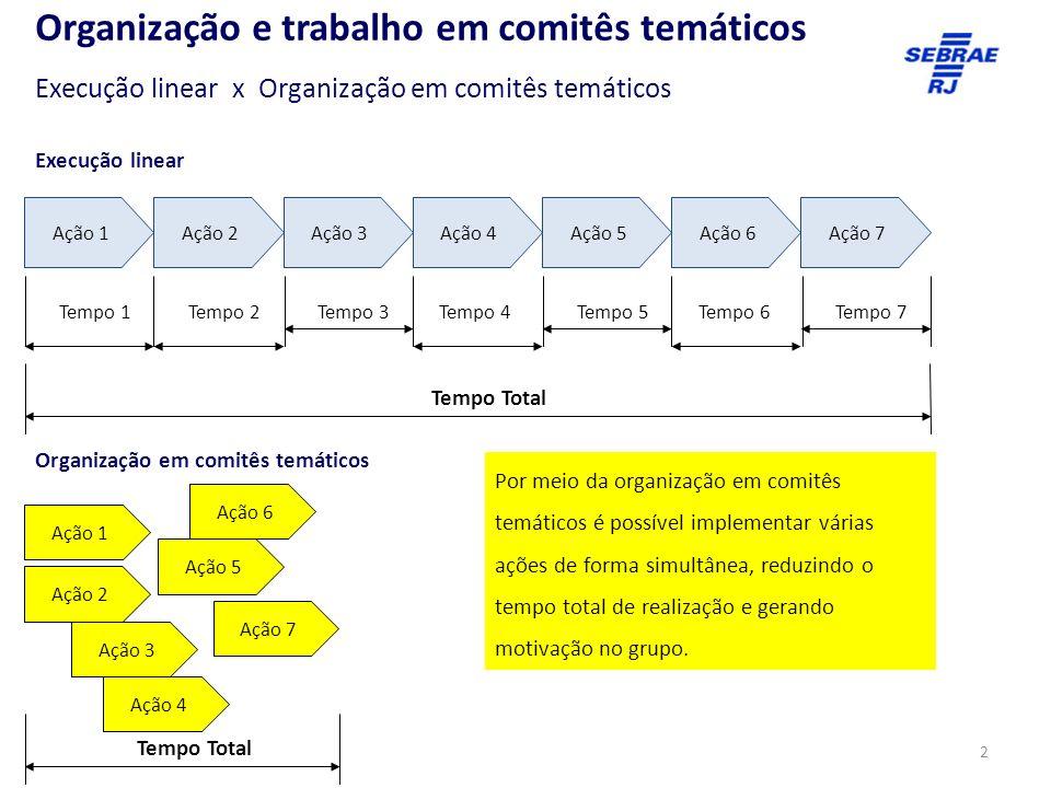 Organização e trabalho em comitês temáticos