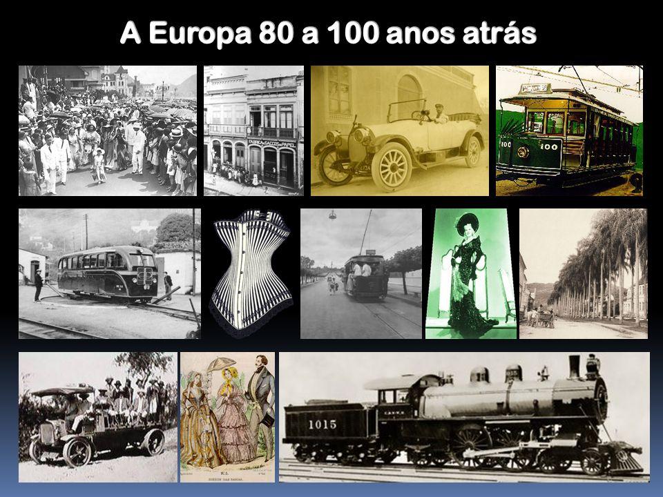 A Europa 80 a 100 anos atrás