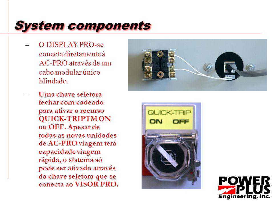 System components – O DISPLAY PRO-se conecta diretamente à AC-PRO através de um cabo modular único blindado.