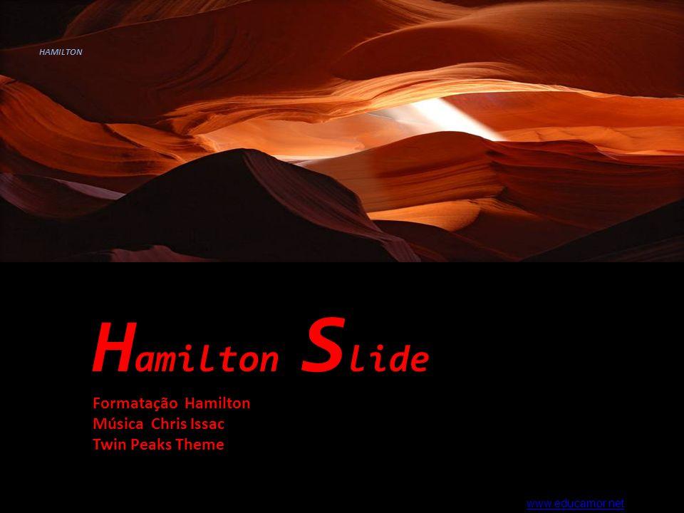 Hamilton Slide Formatação Hamilton Música Chris Issac Twin Peaks Theme