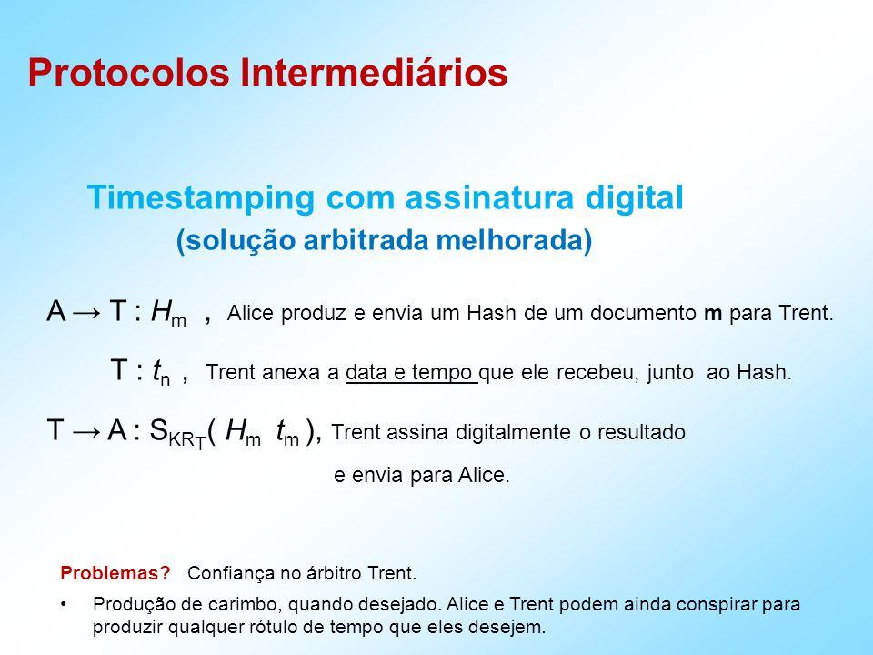 Timestamping com assinatura digital (solução arbitrada melhorada)