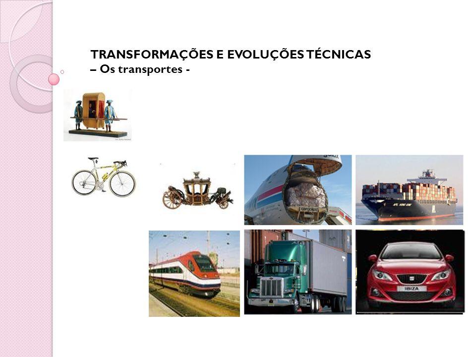TRANSFORMAÇÕES E EVOLUÇÕES TÉCNICAS