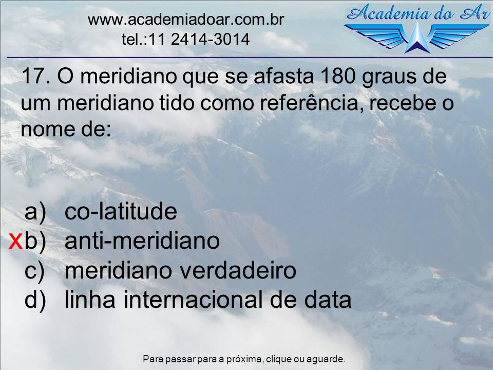 x co-latitude anti-meridiano meridiano verdadeiro
