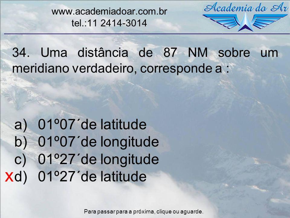 x 01º07´de latitude 01º07´de longitude 01º27´de longitude