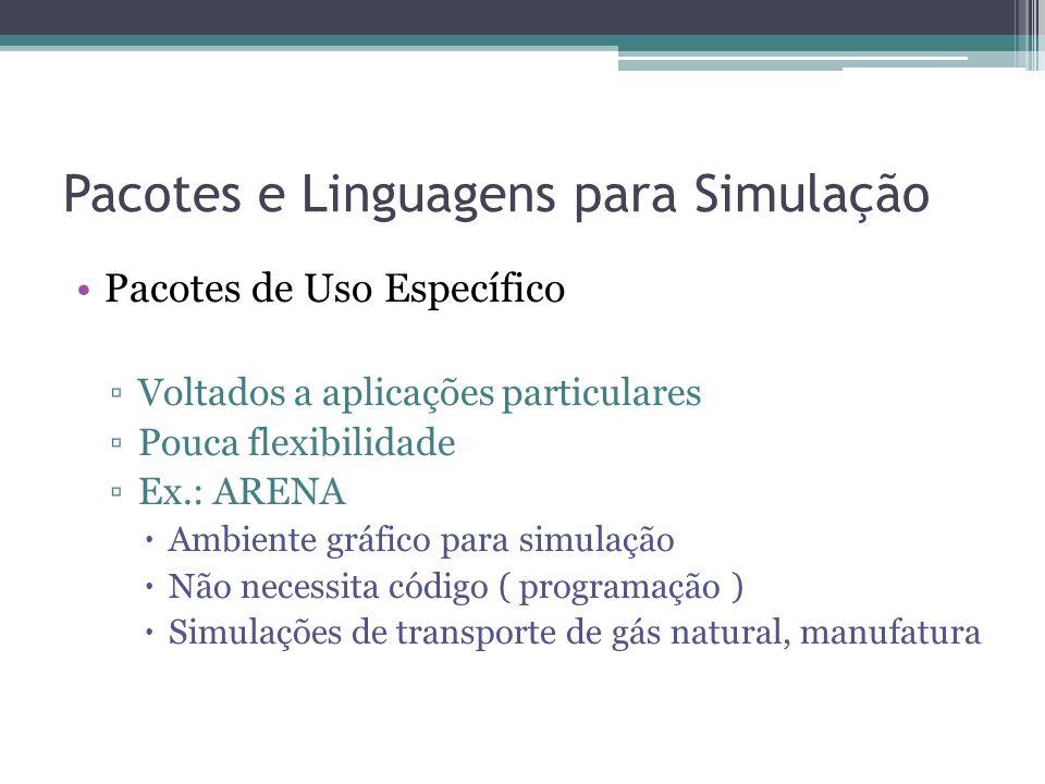 Pacotes e Linguagens para Simulação