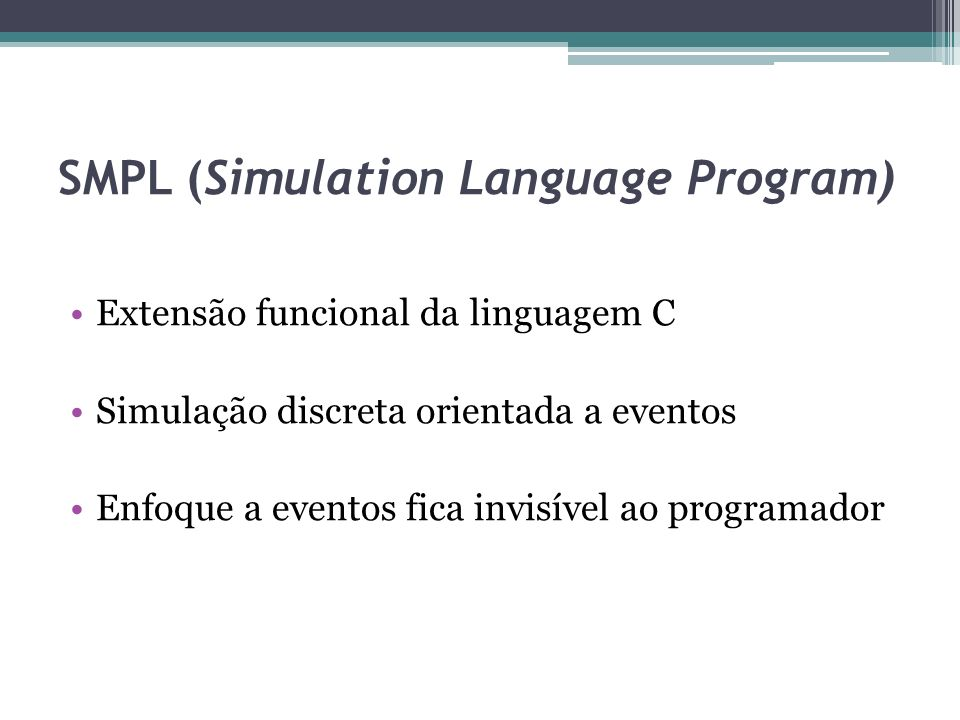 SMPL (Simulation Language Program)