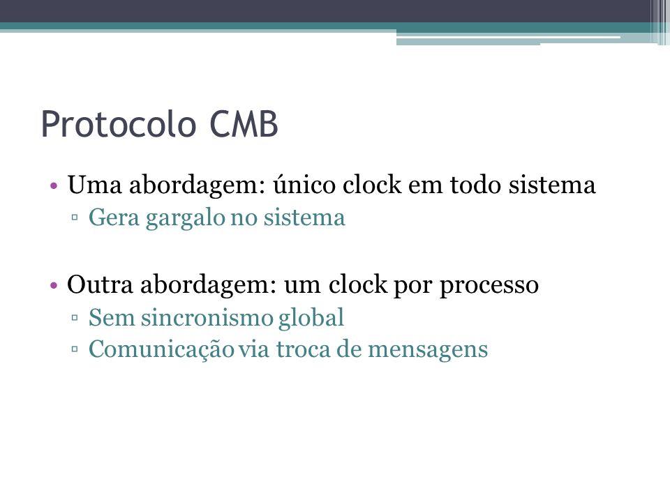 Protocolo CMB Uma abordagem: único clock em todo sistema