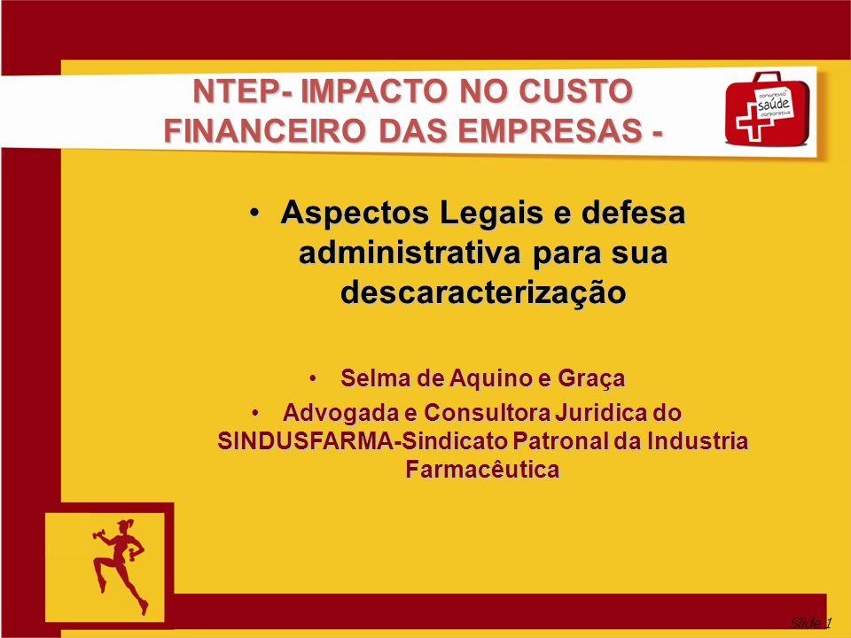 NTEP- IMPACTO NO CUSTO FINANCEIRO DAS EMPRESAS -