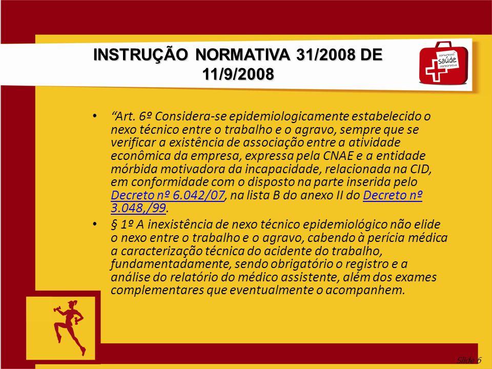 INSTRUÇÃO NORMATIVA 31/2008 DE 11/9/2008