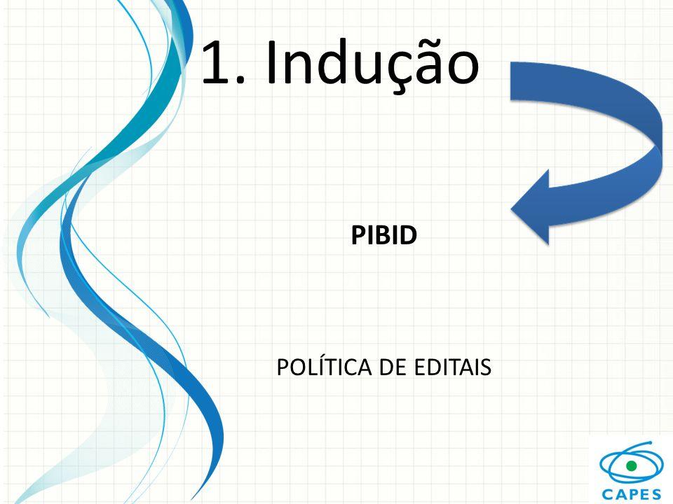 1. Indução PIBID POLÍTICA DE EDITAIS