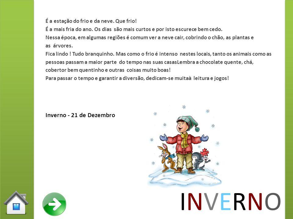 INVERNO Inverno - 21 de Dezembro