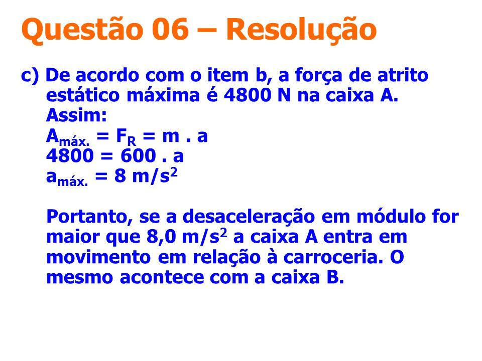 Questão 06 – Resolução