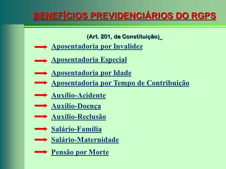 BENEFÍCIOS PREVIDENCIÁRIOS DO RGPS