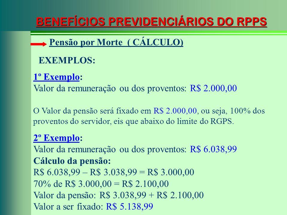 BENEFÍCIOS PREVIDENCIÁRIOS DO RPPS