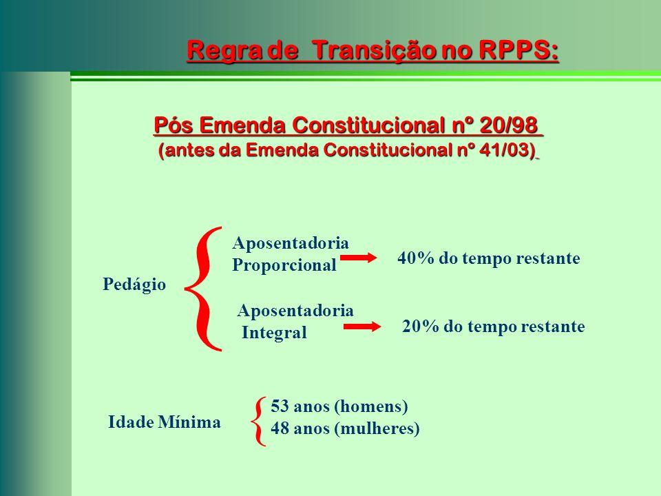 Regra de Transição no RPPS: