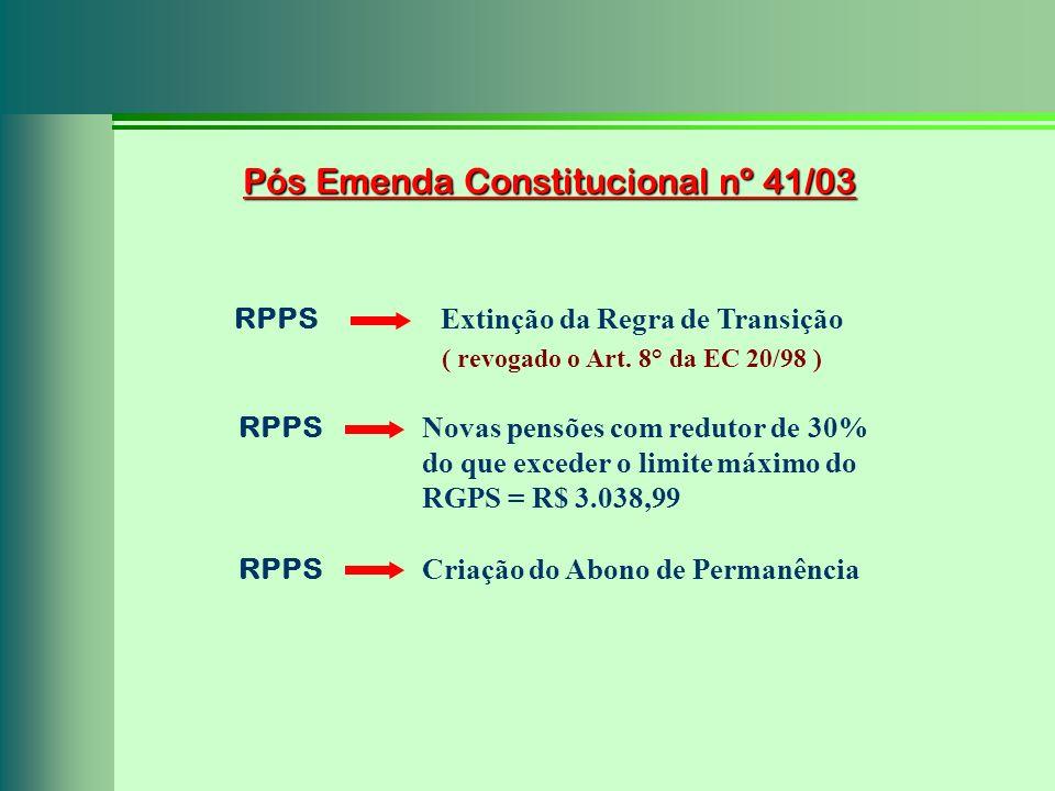 Pós Emenda Constitucional nº 41/03