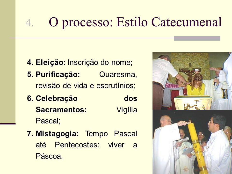 4. O processo: Estilo Catecumenal